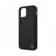 Mercedes чехол для iPhone 12 Mini Genuine leather Bow Quilted/perforated Hard (черный) MEHCP12SDIQBK