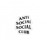 "Стикер iStore ""Anti social Club"""