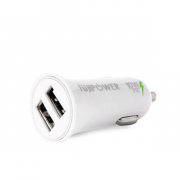 FUJIPOWER Mini Car Charger автомобильное ЗУ 2 port 2.1A, белый FPMCH2USBWHI