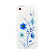 iCover панель  для iPhone 5 Wild Flower, бело-голубой IP5-HP/W-WF/BL