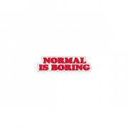 "Стикер iStore ""Normal is boring"""